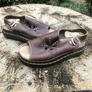Doc Martens Slip On Leather Sandals Women's Size 7